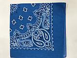 Голубая бандана - платок классический рисунок, фото 2