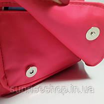 Рюкзак детский для девочки с наружным карманом розовый, фото 3