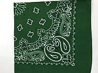 Бавовняна зелена бандана класичний малюнок