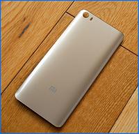 Задняя крышка для Xiaomi Mi5, золотистая, оригинал, СТЕКЛО!