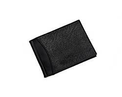 Затиск для грошей зі шкіри морського скату Ekzotic Leather Чорний (ctc 01_1)