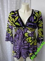 Туника женская легкая летняя нарядная бренд Jane Norman р.42-44, фото 1