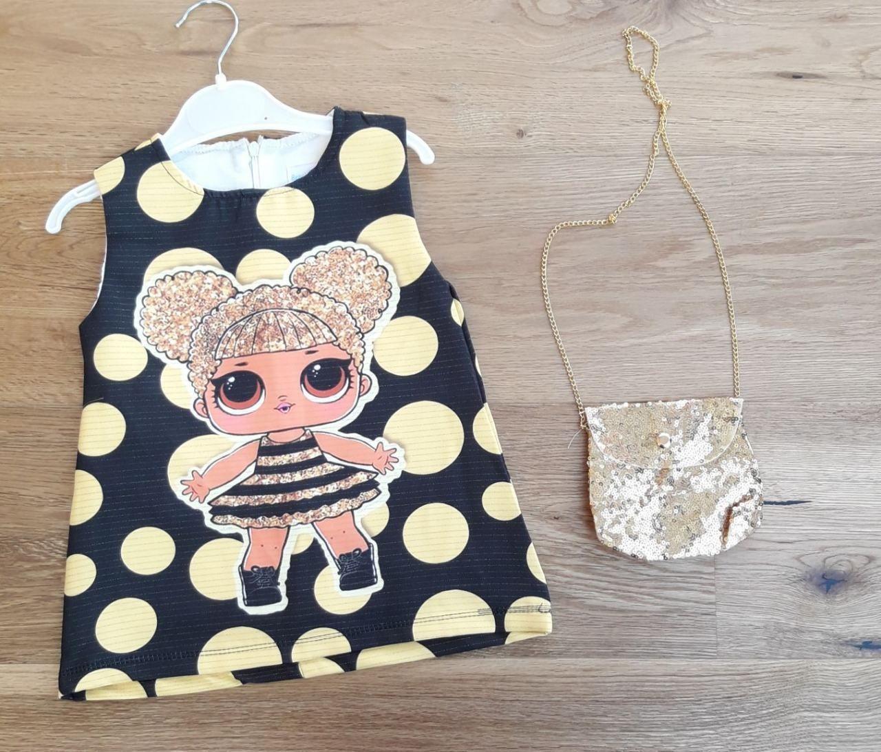 Летнее детское платье с сумочкой для девочки с Лол 1-4 лет опт