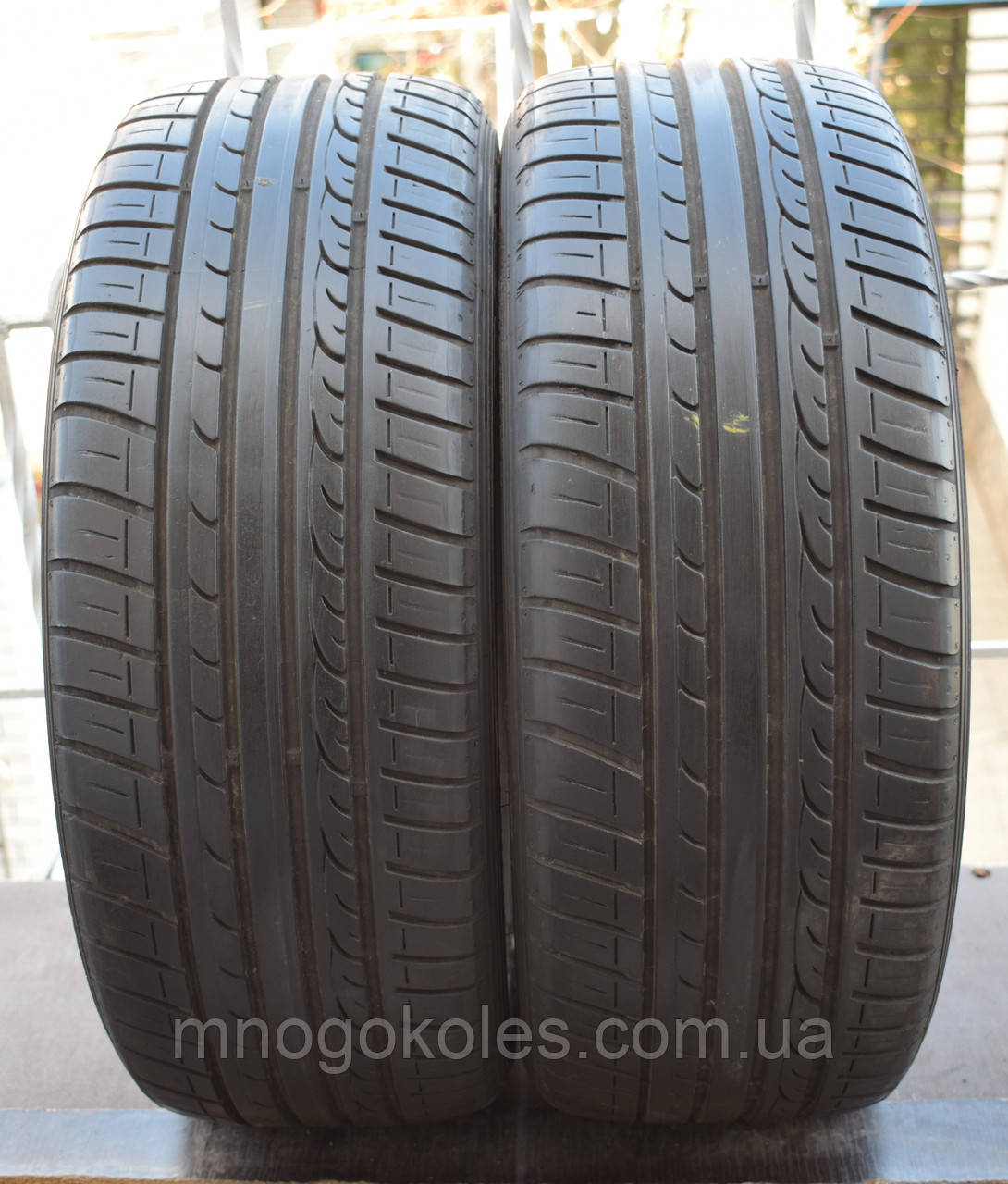 Летние шины б/у 225/45 R17 Dunlop, пара, 6 мм