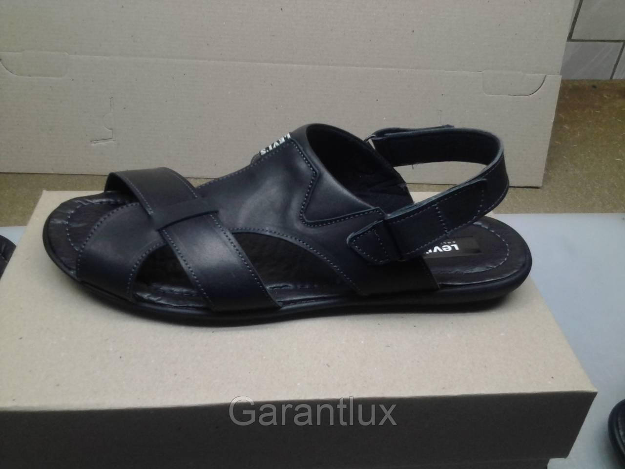 874dc8a7b Мужские кожаные черные сандалии LEVIS больших размеров 46 47 48 49 ...