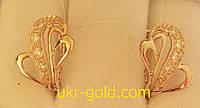 Золотые серьги женские.