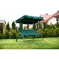 Садова качеля Релакс-зелена- трьохмісна