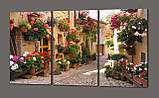 Модульная картина Аллея с цветами. Стелло в Умбрии. Италия. 120*93 см Код: 375.3к.120, фото 2