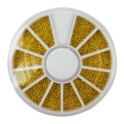 Бульонки для дизайна ногтей, в карусели (золото)