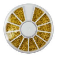 Бульонки для дизайна ногтей, в карусели (золото), фото 1