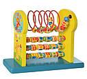 Дерев'яна іграшка розвиваючий центр - лабіринт на дроті, цифри - горизонтальне розташування, фото 2