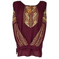 Вишита блуза Орнамент (шифон, вишнева)