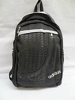 Стильный молодежный рюкзак Adidas черный с серой полоской