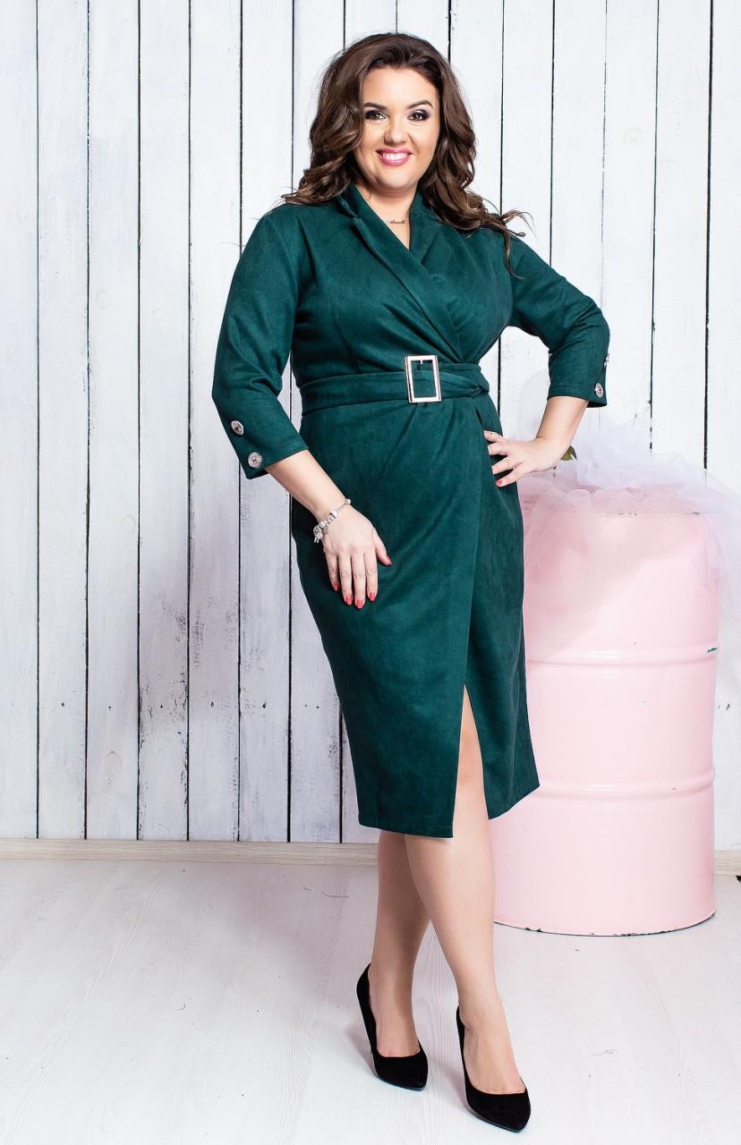 Элегантное замшевое платье 03983