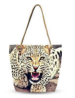 Дамская 3D сумка Леопард