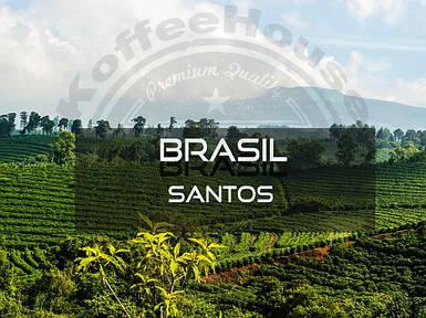 Кофе свежеобжаренный Арабика Бразилия Сантос Премиум, 250г