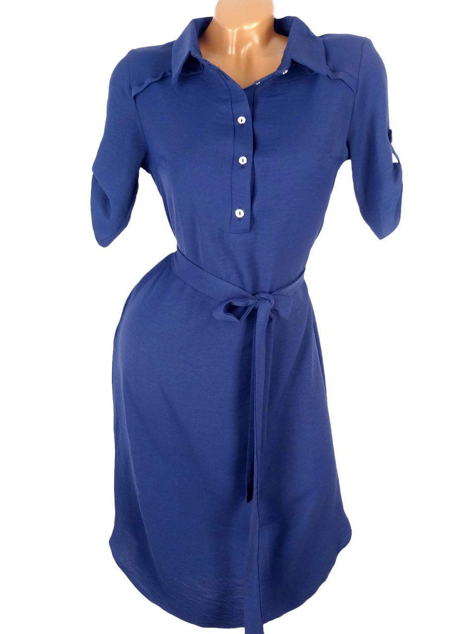 Легкое весеннее платье-рубашка (в расцветках)