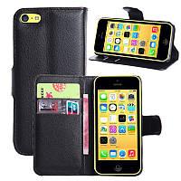 Чехол-книжка Litchie Wallet для Apple iPhone 5C Черный