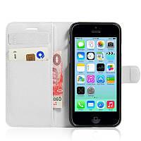 Чехол-книжка Litchie Wallet для Apple iPhone 5C Белый