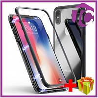 "Metal+Glass чехол с магнитной защелкой для Apple iPhone XS Max (6.5"")"