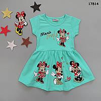 Летнее платье Minnie Mouse для девочки. 1-2;  7-8 лет, фото 1