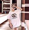 Модная женская футболка на лето (в расцветках 44-46), фото 4