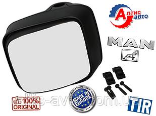 Зеркало MAN дополнительное маленькое МАН Тга Тгх Тгс Тгм с регулировкой и подогревом (220x190)