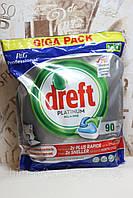 Гелевые капсулы для посудомоечных машин Dreft Platinum 90 шт