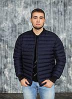 Мужская весенняя куртка, бомбер 48, синий