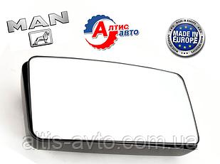Зеркало MAN L2000, 8.163, 8.180, 8.150, F2000 (385 x 205) на грузовики МАН 81637306305