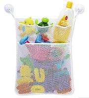 Органайзер на присосках в ванную для детских игрушек