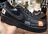 """Кроссовки Nike Air Force 1 Low Just Do It """"Black/White"""" Арт. 3884"""