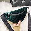 Классическая женская сумка бананка, Зеленая