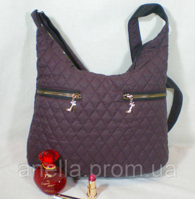 5c86a56b33d7 Стильная стеганая женская сумка-мешок на каждый день - Интернет-магазин