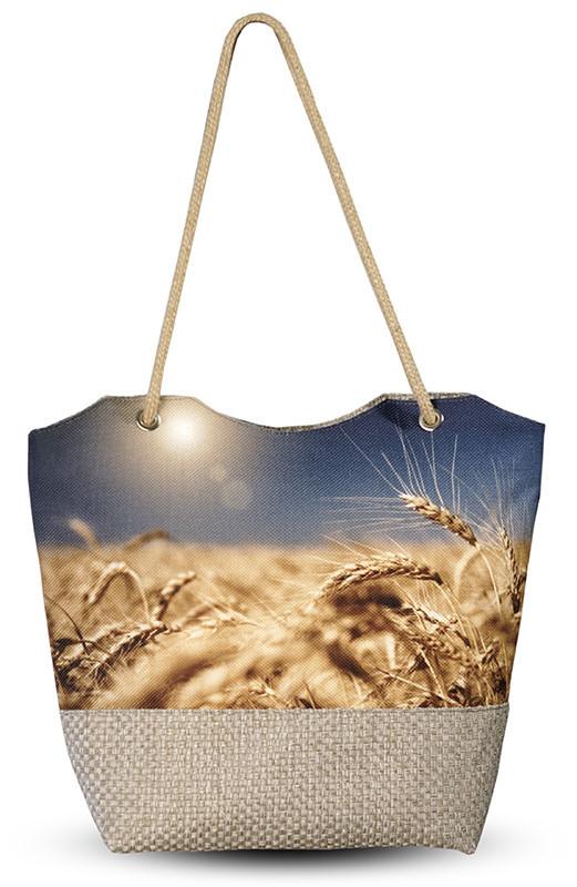 Женская сумка с 3D рисунком Пшеничное поле
