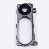 Стекло камеры LG D850 G3/D855/D856/F400/LS990/VS985, с рамкой серого цвета