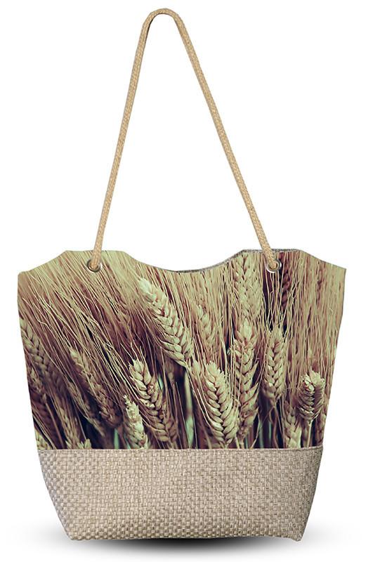 Сумка женская с 3D рисунком Пшеница