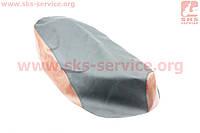 Чехол сидения Honda LEAD AF48 (эластичный, прочный материал) черный/коричневый
