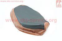 Чехол сидения Honda DIO TACT AF24 (эластичный, прочный материал) черный/коричневый