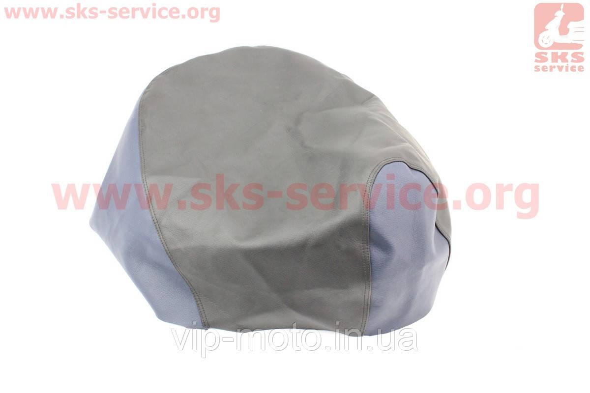 Чехол сидения Yamaha JOG 3KJ (эластичный, прочный материал) черный/синий