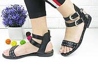 Женские стильные черные босоножки Viola 1049