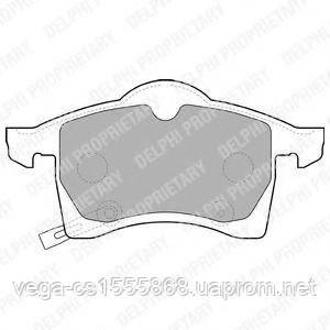 Гальмівні колодки Delphi LP1309 на Opel Meriva / Опель Меріва