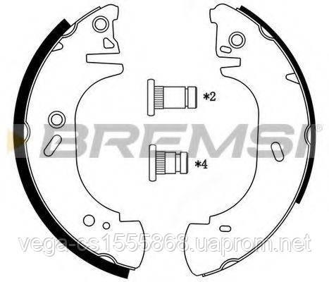 Тормозные колодки Bremsi GF0231 на Opel Movano / Опель Мовано