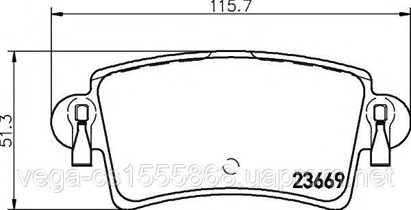 Тормозные колодки Textar 2366901 на Opel Movano / Опель Мовано