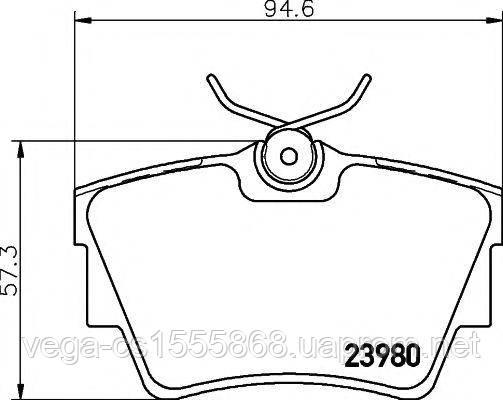 Тормозные колодки Textar 2398001 на Opel Vivaro / Опель Виваро