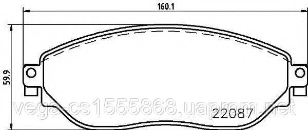 Тормозные колодки Textar 2208701 на Opel Vivaro / Опель Виваро
