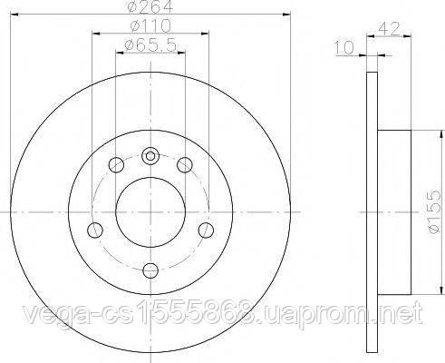 Тормозной диск Textar 92092103 на Opel Combo / Опель Комбо