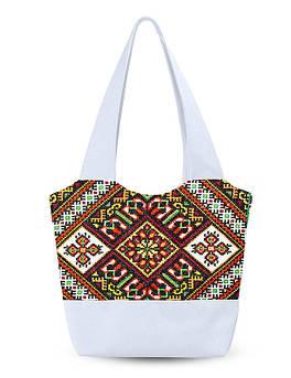 Дамская сумка Узор на белом
