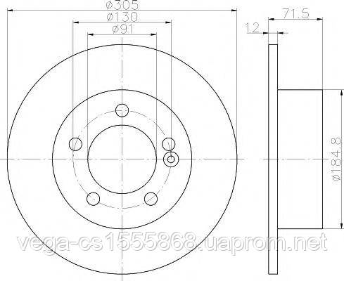 Тормозной диск Textar 92228800 на Opel Movano / Опель Мовано