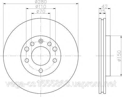 Тормозной диск Textar 92091903 на Opel Zafira / Опель Зафира